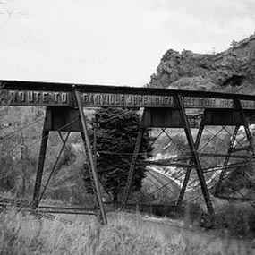 Colorado Midland Railway viaduct over Ruxton